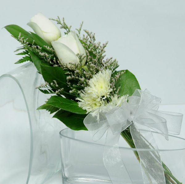 Two Rose Presentation - White