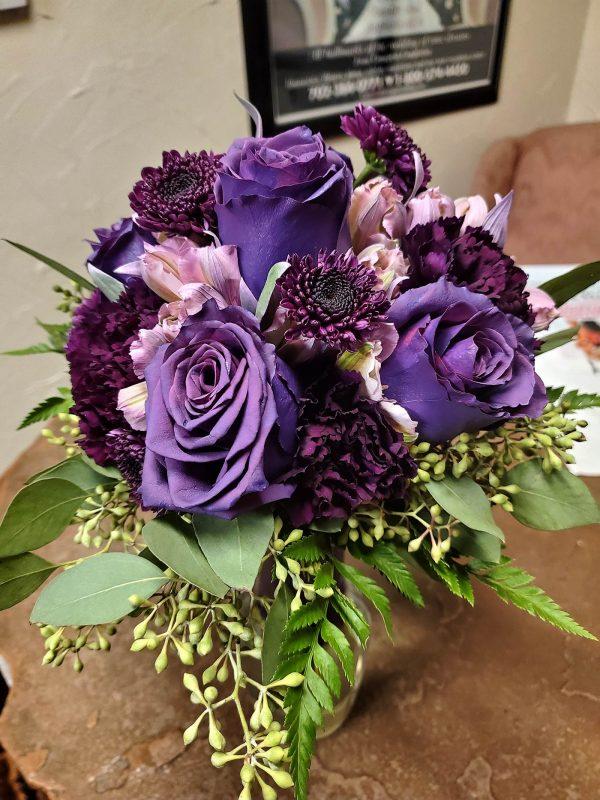 6 Purple Rose Bouquet