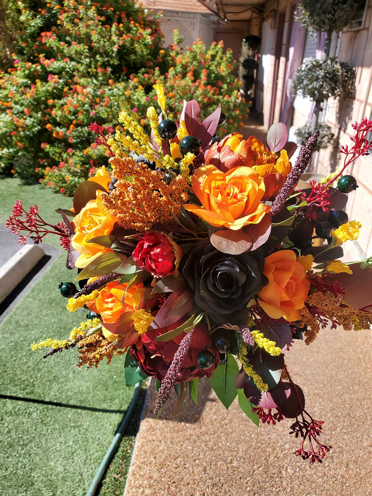 Ghoulish Silk Bouquet